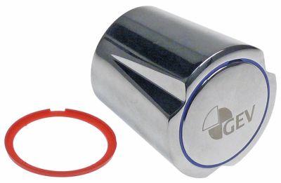 λαβή για κεφαλές βάνας 1/2″ και 3/4″ κρύο/ζεστό νερό κόκκινο/μπλε