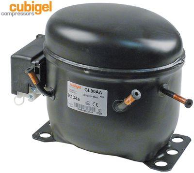 συμπιεστής ψυκτικό R134a  τύπος GL90AA  220-240 V 50Hz LBP  9.4kg 1/4HP είσοδος ισχύος 184W
