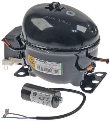 συμπιεστής ψυκτικό R290  τύπος EMT2121U  220-240 V 50Hz LBP  12kg 1/5HP χωρητικότητα κυλίνδρου 5.6cm³