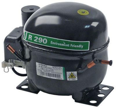 συμπιεστής ψυκτικό R290  τύπος NEK2134U  220-240 V 50Hz LBP  11kg 1/2HP χωρητικότητα κυλίνδρου 10cm³