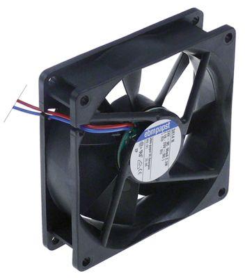 ελικοειδής ανεμιστήρας Μ 92mm W 92mm H 25mm 24VDC  2.3W ρουλεμάν ρουλεμάν αρ. κατασκευαστή 3414N