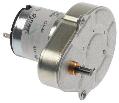 μειωτήρας CROUZET  τύπος G70C10AFTEG  12V τάση DC  ø άξονα 4mm Μ 66mm W 50mm H 61mm