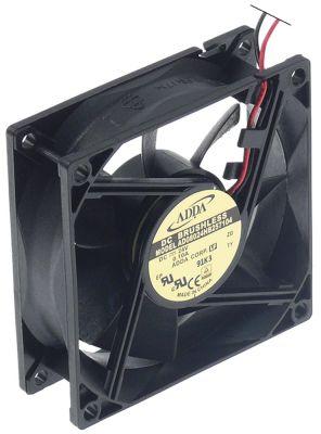 ελικοειδής ανεμιστήρας Μ 80mm W 80mm H 25mm 24VDC  1.9W ρουλεμάν ρουλεμάν σύνδεσμος καλώδιο 300mm