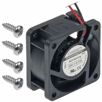ελικοειδής ανεμιστήρας Μ 40mm W 40mm H 20mm 12VDC  1.6W ρουλεμάν ρουλεμάν σύνδεσμος καλώδιο