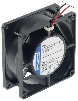 ελικοειδής ανεμιστήρας Μ 80mm W 80mm H 32mm 24VDC   -Hz 2.7W ρουλεμάν ρουλεμάν αρ. κατασκευαστή 8314