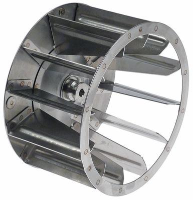 φτερό ανεμιστήρα πτερύγια 12 ø D1 180mm ø D2 8mm ø D3 6x9 mm H1 100mm H2 27mm H3  -mm