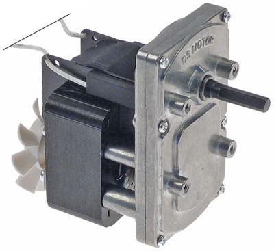 μειωτήρας 230V τάση AC  50Hz 1 φάση ø άξονα 7mm Μ 92mm W 60mm H 96mm