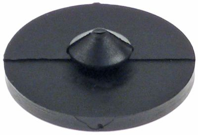 ποδαράκι ø 30mm H 4mm ø διάταξης στερέωσης 10mm συνολικό ύψος 9,5mm ελαστικό Ποσ. 1 τεμ.