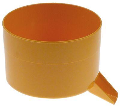 δίσκος συλλογής για αποχυμωτές με έξοδο ø 165mm H 125mm πλαστικό κίτρινο για συσκευή αρ.11
