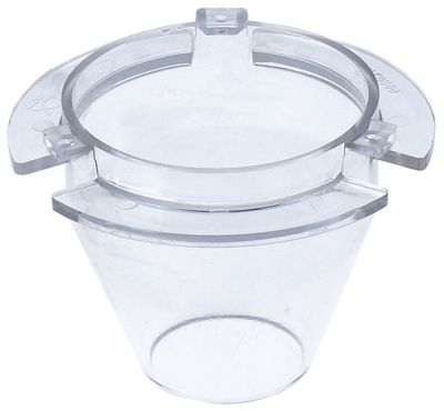 χωνί για παγωμένο νερό ø 85,5mm Μ 84mm πλαστικό για δοχείο διανομής πάγου