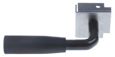 πόμολο για φούρνο πίτσας Μ 140mm W 78mm ø λαβής 27,5mm με φλάντζα μαύρο
