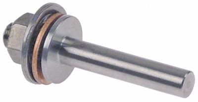 βίδα με σπείρωμα ευθύ Μ 44mm Ανοξείδωτο ατσάλι σπείρωμα M6  ø 6mm