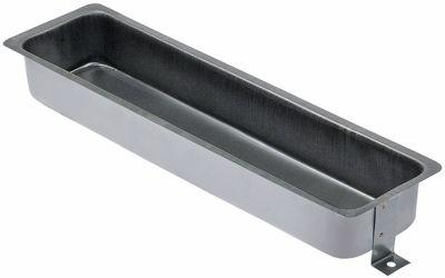 δίσκος εξάτμισης Ανοξείδωτο ατσάλι Μ 365mm W 95mm H 45mm για ράφι με ψύξη