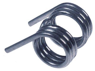 ελατήριο στρέψης ø 23,5mm Μ1 29mm Μ2 38mm ø διατομής σύρματος 3mm για παγομηχανή
