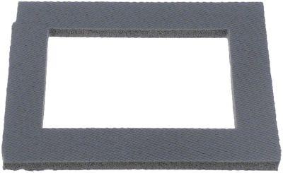 λάστιχο πόρτας Μ 170mm W 135mm πάχος 8mm εσωτερικές διαστάσεις 90x115mm