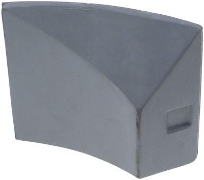 εκτροπέας για συσκευή αποφλοίωσης πατατών πλαστικό Μ 144mm W 38mm H 130mm σπείρωμα 1/4