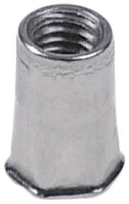 πριτσίνι σπείρωμα M5  DN 4mm Μ 12mm Ανοξείδωτο ατσάλι Ποσ. 1 τεμ. ø 7mm ΜΚ 6