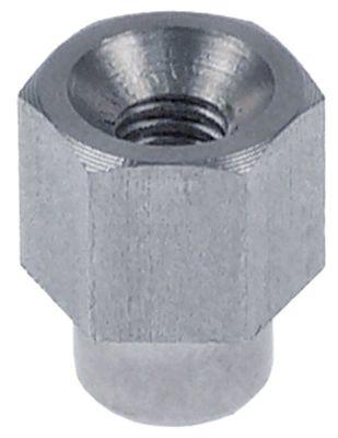 δακτύλιος με σπείρωμα Μ 17mm σπείρωμα M6  για πόρτα