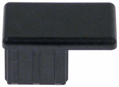εξάρτημα ορθογώνιο μετρήσεις στερέωσης 31x28 mm πλαστικό