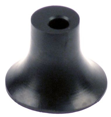 ποδαράκι ø 47mm H 35mm εσωτερική ø 9mm ελαστικό Ποσ. 1 τεμ.