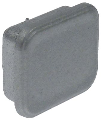 κενό καπάκι Μ 18mm W 15mm H 6mm πλαστικό