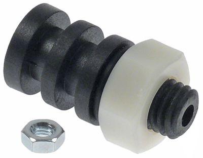 μονωτικό σπείρωμα M10x1,75  πλαστικό ø αναγν. 4mm ΕΞ. ø 16mm Μ 32,5mm για ηλεκτρόδιο στάθμης
