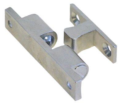 κλειδαριά καστάνιας Μ 60mm W 12mm H 15mm απόσταση στερέωσης 49mm πλήρες με χερούλι πόρτας