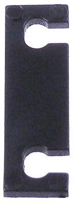 βάση εστίας H 2mm Μ 38mm W 11mm απόσταση στερέωσης 26mm πλαστικό
