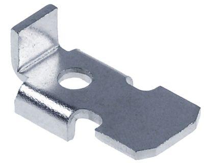 στηρίγματα ραφιού Μ 27,5mm W 15mm H 7mm επινικελωμένος ορείχαλκος ø οπής 5mm