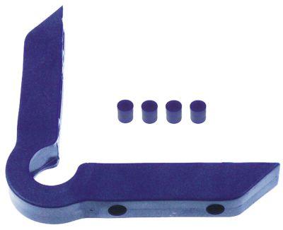 γωνιακός προφυλακτήρας εξωτερικό μήκος 158mm εσωτερικό μήκος 130mm W 25mm H 23mm