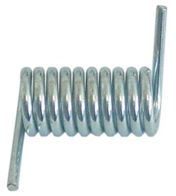 ελατήριο στρέψης ø 20,2mm Μ2 40mm ø διατομής σύρματος 3,7mm θέση στερ. δεξιά Μ1 16mm