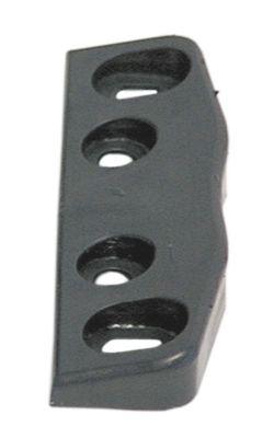 κλείστρο πόρτας πάχος 18mm W 18mm Μ 80mm μαύρο απόσταση στερέωσης 28/60 mm αρ. 3.31.0765.0  ψύξη
