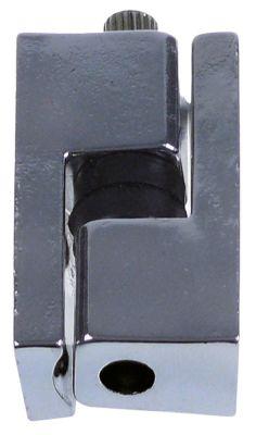μέρος μεντεσέ Μ 50mm W 22mm απόσταση στερέωσης 17mm περιστροφή αριστερά/δεξιά