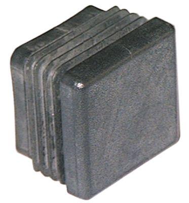 καπάκι Μ 25mm W 25mm Ποσ. 1 τεμ. για τετράγωνους σωλήνες μαύρο