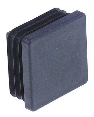 καπάκι Μ 40mm W 40mm Ποσ. 50 τεμ. για τετράγωνους σωλήνες μαύρο
