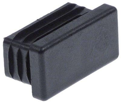 καπάκι Μ 40mm W 20mm Ποσ. 50 τεμ. για τετράγωνους σωλήνες μαύρο