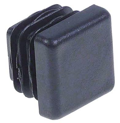 καπάκι Μ 20mm W 20mm Ποσ. 50 τεμ. για τετράγωνους σωλήνες μαύρο