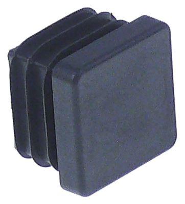 καπάκι Μ 25mm W 25mm Ποσ. 50 τεμ. για τετράγωνους σωλήνες μαύρο