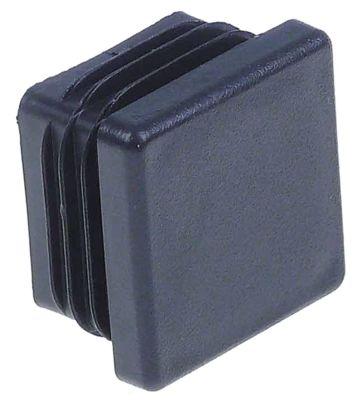 καπάκι Μ 30mm W 30mm Ποσ. 50 τεμ. για τετράγωνους σωλήνες μαύρο