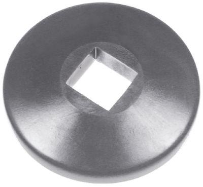 αφαιρούμενος τροχός ΕΞ. ø 100mm ø αναγν. 25x25 mm H 24mm PVC  γκρι