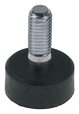 ποδαράκι σπείρωμα M8  Μ σπειρώματος 20mm ø 23mm H 12mm Ποσ. 1 τεμ.