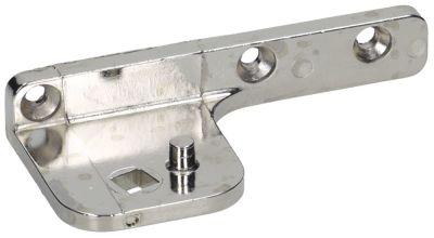 μεντεσές Μ 100mm W 48mm θέση στερ. αριστερά πάχος 5mm για πόρτα για πάγκους με ψύξη