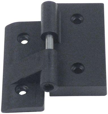 μεντεσές πλαστικό μαύρο Μ 78mm W 78mm απόσταση στερέωσης 40/46 mm