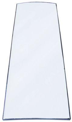γυάλινη πλάκα W 460mm H 1360mm πάχος 17mm καμπύλο για ψυγείο