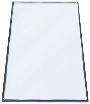γυάλινη πλάκα Μ 660mm W 332mm πάχος 10mm επίπεδο θέση στερ. πλευρικό για ψυγείο