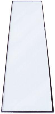 γυάλινη πλάκα Μ 1392mm W 376mm πάχος 10mm επίπεδο θέση στερ. πλευρικό για οθόνη ψυγείου
