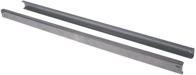 ζεύγος αξόνων ρύθμισης σχήματος U Μ 650mm W 14mm H 28mm θέση στερ. αριστερά/δεξιά