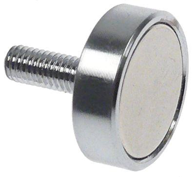 μαγνήτης πόρτας για κάτω ντουλάπι H 6mm ø 20mm M5  Μ σπειρώματος 15mm