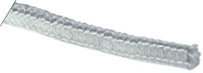 κορδόνι υαλομέταξο τετράγωνο μέγεθος 10x10 mm Μέγ. Θ 550°C πλεγμένο Μ 5m