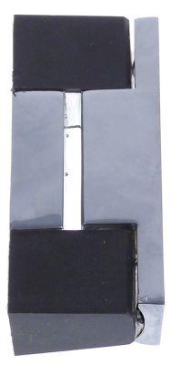 μέρος μεντεσέ Μ 100mm W 18mm απόσταση στερέωσης 84mm περιστροφή αριστερά/δεξιά
